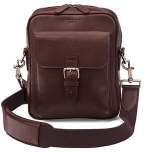 Aspinal of London | Small Harrison Messenger Bag In Smooth Chocolate | Smooth chocolate