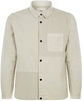 Folk Multi Fabric Patched Overshirt