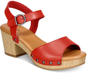 Style&Co. Style & Co Anddreas Platform Block-Heel Sandals, Created for Macy's Women's Shoes