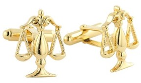 David Donahue Men's 'Scales Of Justice' Cuff Links