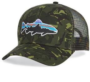 Patagonia Men's 'Fitz Roy - Trout' Trucker Hat - Green
