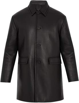 Prada Single-breasted leather coat