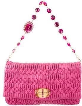 Miu Miu Embellished Matelassé Leather Bag