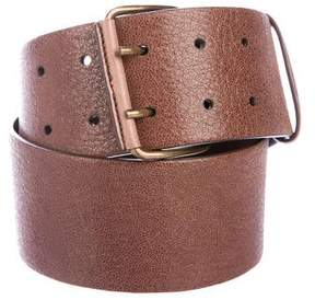 Brunello Cucinelli Wide Leather Belt