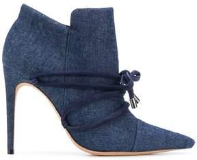 Alexandre Birman tie detail heeled booties