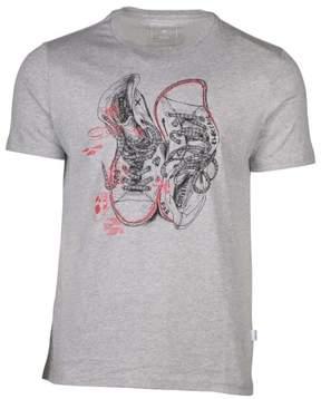 Converse Men's Chucks Sneaker Sketch T-Shirt-Heather Gray-Small