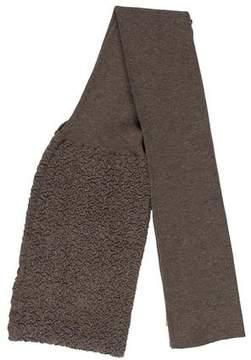 Saint Laurent Patterned Knit Scarf