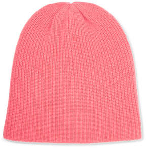 The Elder Statesman Watchman Ribbed Cashmere Beanie - Pink