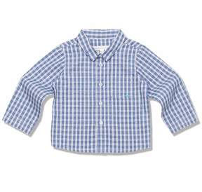 Marie Chantal Baby Boy Fine Cotton Check Shirt - Blue Check - Baby