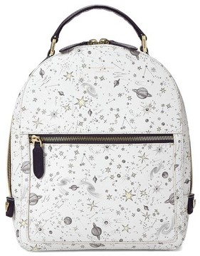 Aspinal of London Pegasus Small Mount Street Backpack In Ivory Constellation Print