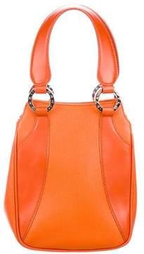 Bvlgari Textured Leather Handle Bag
