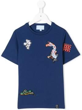 Lanvin Enfant patch detailed T-shirt