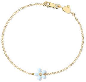 Alison Lou Enameled 14-karat Gold Diamond Bracelet
