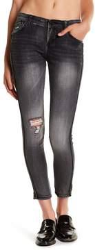 Jolt Distressed Embellished Skinny Jeans (Juniors)