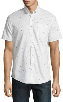 Report Collection Pleated Cotton Polo Shirt