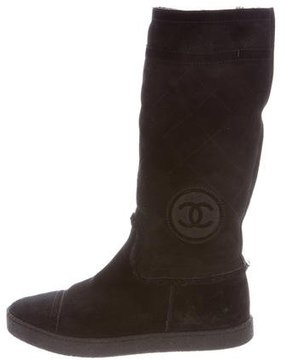 Chanel Shearling CC Boots