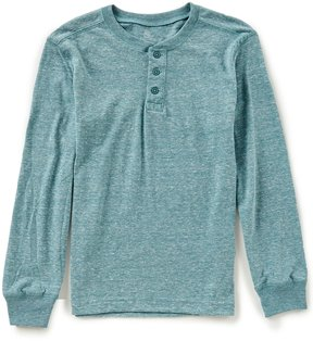 Class Club Big Boys 8-20 Long-Sleeve Henley Shirt