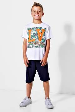 boohoo Boys LA Palm T-Shirt & Shorts Set