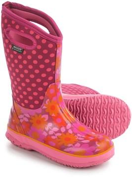 Bogs Flower Dots Rain Boots - Waterproof, Rubber, Neoprene (For Big Girls)