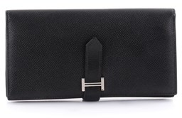 Hermes Pre-owned: Bearn Wallet Epsom Long. - BLACK - STYLE