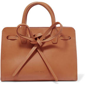 Mansur Gavriel Sun Mini Mini Leather Tote - Camel