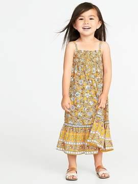 Old Navy Smocked-Neck Maxi Dress for Toddler Girls