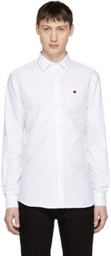 Givenchy White Embroidered Star Shirt