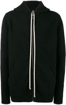 Rick Owens Black Glitter cashmere hoodie