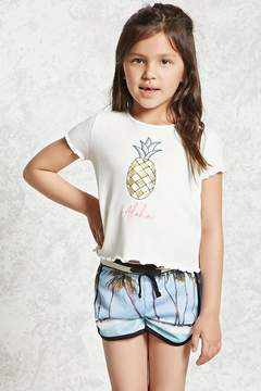 Forever 21 Girls Aloha Pineapple Tee (Kids)