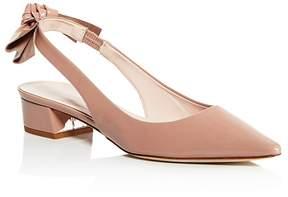 Kate Spade Women's Lucia Patent Leather Slingback Block Heel Pumps