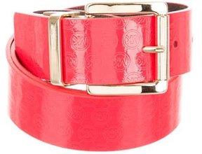 MICHAEL Michael Kors Patent Leather Logo Belt