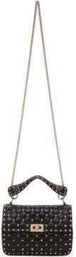 Valentino Black Garavani Medium Rockstud Spike Matelassé Chain Bag