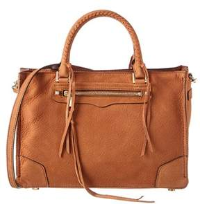 Rebecca Minkoff Regan Leather Satchel. - BROWN - STYLE