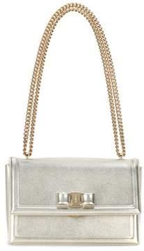Salvatore Ferragamo Ginny metallic leather shoulder bag