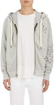 NSF Men's Distressed Layered Cotton Hoodie