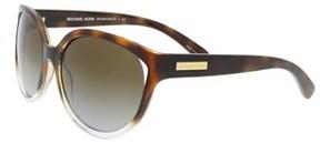 Michael Kors Mk6036 3125t5 Mitzi Ii Tortoise Clear Round Sunglasses.