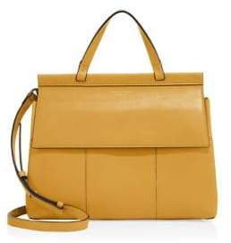 Tory Burch Block-T Leather Satchel - NEW IVORY - STYLE