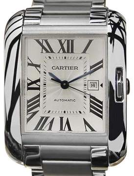 Cartier Tank Anglaise Stainless Steel Swiss Made Automatic 39mm Mens Watch