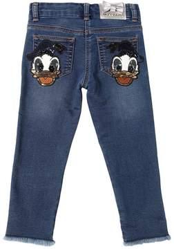 MonnaLisa Donald Duck Cotton Denim Effect Jeans