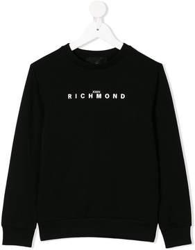 John Richmond Kids logo print sweatshirt