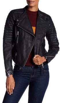 Andrew Marc Ryan Asymmetrical Moto Leather Jacket