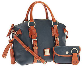 Dooney & Bourke As Is Pebble Leather Domed Satchel - ONE COLOR - STYLE