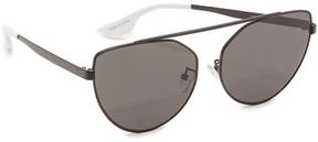 McQ Alexander McQueen Cat Eye Brow Bar Sunglasses