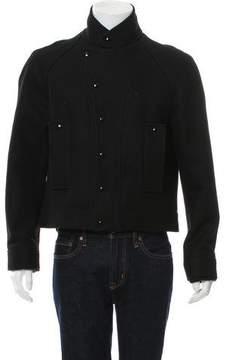 Balenciaga Wool Mock Neck Coat