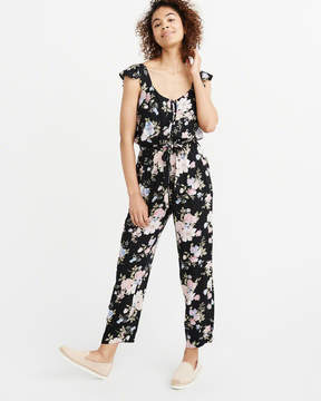 Abercrombie & Fitch Ruffle Sleeve Jumpsuit