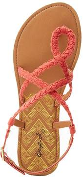 Charlotte Russe Qupid Braided Strappy Flat Sandals