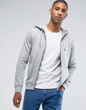 Benetton Zip Up Hoodie In Gray