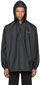 Balenciaga Black Kering Vareuse Windbreaker Jacket