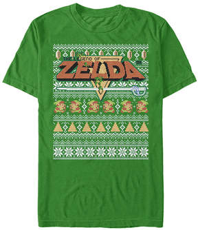 Fifth Sun The Legend of Zelda Kelly Bit Xmas Stack Tee - Men's Regular