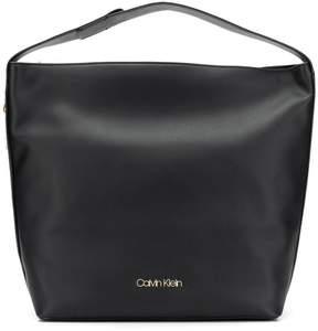 Calvin Klein large logo plaque shoulder bag